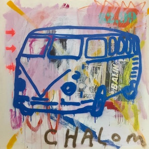 (CreativeWork) Transporter 3 by Chalom (Mike Lane). mixed-media. Shop online at Bluethumb.