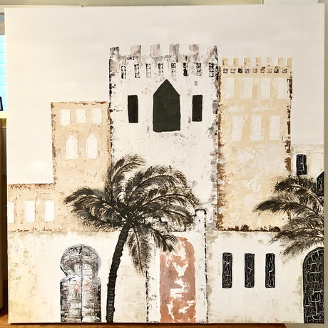 (CreativeWork) Moroccan days by nicole adam. Mixed Media. Shop online at Bluethumb.