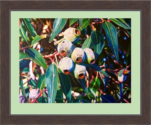 (CreativeWork) Nuts 'n' Leaves by Delma White. Print. Shop online at Bluethumb.