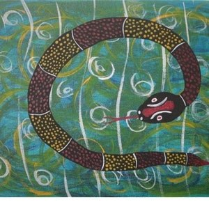 (CreativeWork) Rainbow Serpent Story Place by John Williams. #<Filter:0x000056097024eee0>. Shop online at Bluethumb.