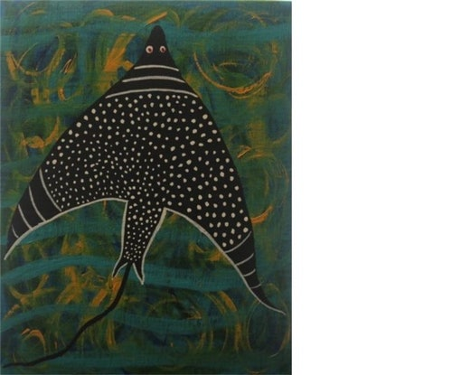 (CreativeWork) Balibal - the black diamond spotted stingray by John Williams. #<Filter:0x00007f3c373ef8f8>. Shop online at Bluethumb.