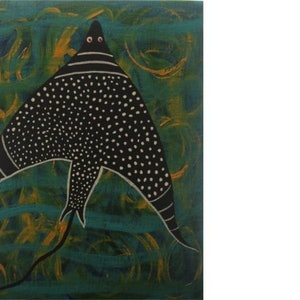(CreativeWork) Balibal - the black diamond spotted stingray by John Williams. #<Filter:0x000056096ff89e30>. Shop online at Bluethumb.