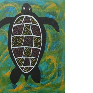 (CreativeWork) Balarrur - Turtles by John Williams. acrylic-painting. Shop online at Bluethumb.