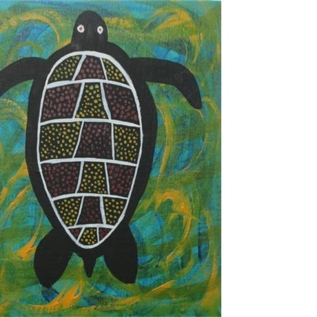 (CreativeWork) Balarrur - Turtles by John Williams. Acrylic Paint. Shop online at Bluethumb.