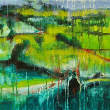 (CreativeWork) Country Life by David Calleja. Acrylic Paint. Shop online at Bluethumb.
