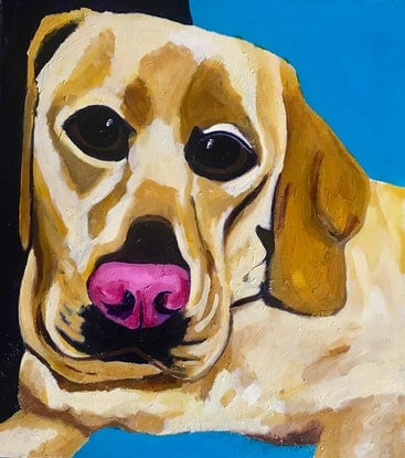 (CreativeWork) our Jess by Sharron Okines. Oil Paint. Shop online at Bluethumb.