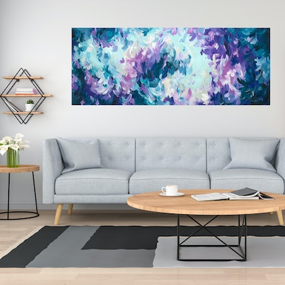 (CreativeWork) Cocktails and Dreams by Amber Gittins. Acrylic Paint. Shop online at Bluethumb.