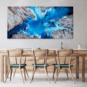 (CreativeWork) COASTAL WAVES by Eva Johnova. mixed-media. Shop online at Bluethumb.