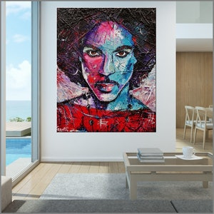 (CreativeWork) His Royal Purpleness 120cm x 150cm Urban Pop Abstract Realism Prince Textured Acrylic Gloss Finish FRANKO by _Franko _. Acrylic Paint. Shop online at Bluethumb.