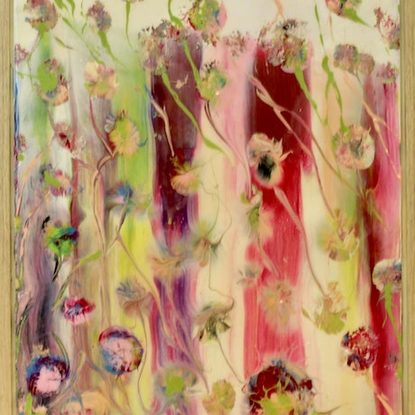 (CreativeWork) Fairies in the Garden by Kit McNeill. Mixed Media. Shop online at Bluethumb.