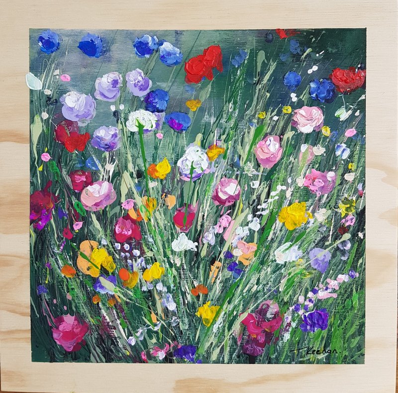 (CreativeWork) Flowers Grow Here by Tanya Keenan. Acrylic Paint. Shop online at Bluethumb.