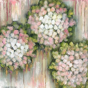 (CreativeWork) Persian Fairy Floss Bouquet by Lisa Wisse-Robinson. mixed-media. Shop online at Bluethumb.