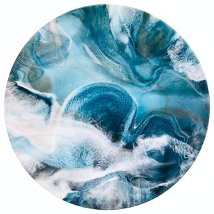 (CreativeWork) The Ocean's Secrets - Original Art by Katarina Lim. resin. Shop online at Bluethumb.