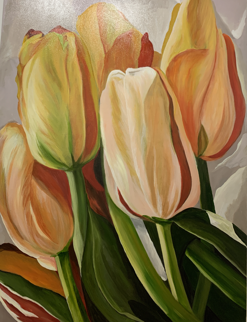 (CreativeWork) Winter Bounty by Julie Christensen. acrylic-painting. Shop online at Bluethumb.