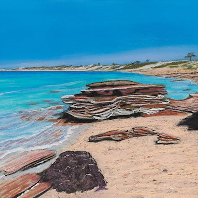 (CreativeWork) Beautiful Blue Broome by Annis Woods. #<Filter:0x00007f1f5c5c78f8>. Shop online at Bluethumb.
