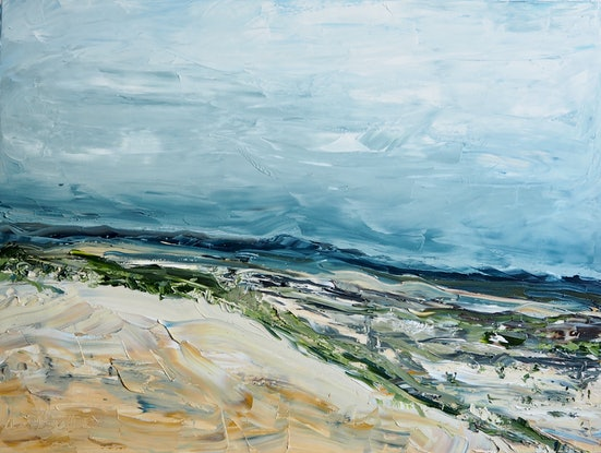(CreativeWork) 'Beautiful Dry' Australian Landscape by Michelle Keighley. Oil Paint. Shop online at Bluethumb.