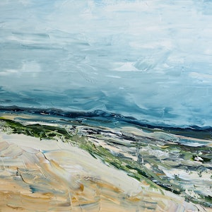 (CreativeWork) 'Beautiful Dry' Australian Landscape by Michelle Keighley. oil-painting. Shop online at Bluethumb.