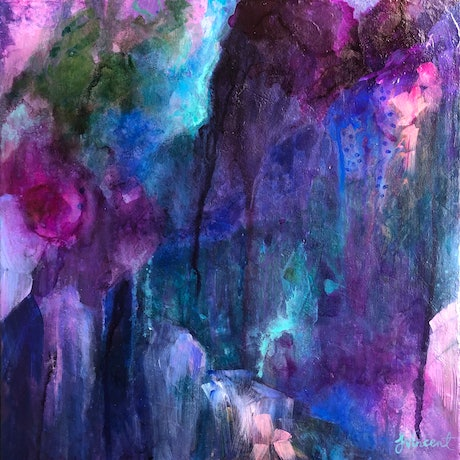 (CreativeWork) Chasm by Sandra Vincent. Acrylic Paint. Shop online at Bluethumb.