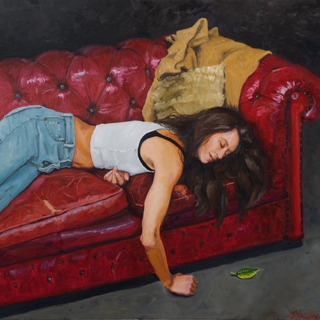 (CreativeWork) Holly Sleeping  by James Needham. Oil Paint. Shop online at Bluethumb.
