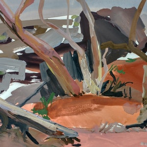 (CreativeWork) Outback Creekbed II by Lise Temple. acrylic-painting. Shop online at Bluethumb.