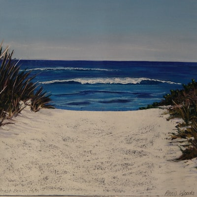 (CreativeWork) Rottnest Beach Path  by Annis Woods. drawing. Shop online at Bluethumb.