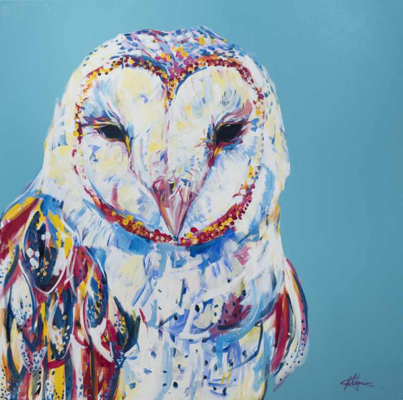 (CreativeWork) Singed Limited-Edition Print of 'Wings of Change' by Sally Perrett. Acrylic Paint. Shop online at Bluethumb.