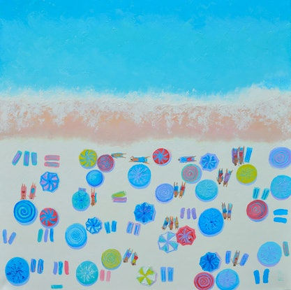 (CreativeWork) FEELS LIKE SUMMER - beach painting by Jan Matson. Oil Paint. Shop online at Bluethumb.