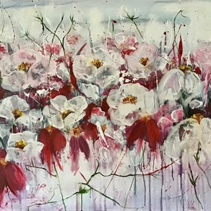 (CreativeWork) 'A Rather Large Amount Of Gratitude'  by Louise Croese. acrylic-painting. Shop online at Bluethumb.