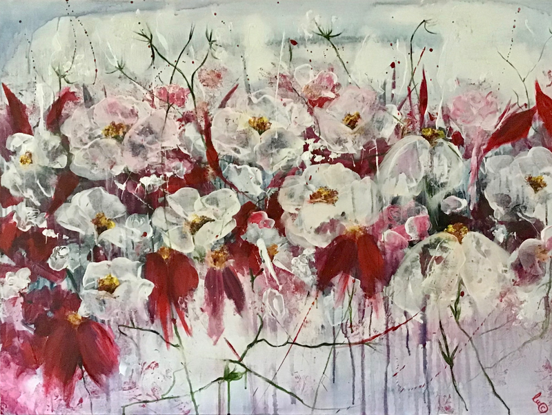 (CreativeWork) 'A Rather Large Amount Of Gratitude'  by Louise Croese. Acrylic Paint. Shop online at Bluethumb.