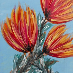 (CreativeWork) Flower Power by Dianne Alchin. acrylic-painting. Shop online at Bluethumb.