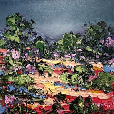 (CreativeWork) On My Mind - Outback Landscape by Angela Hawkey. oil-painting. Shop online at Bluethumb.
