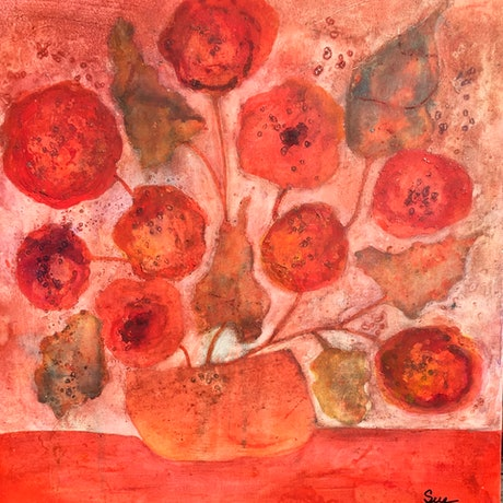 (CreativeWork) Bunches 2 by sue carter. Mixed Media. Shop online at Bluethumb.