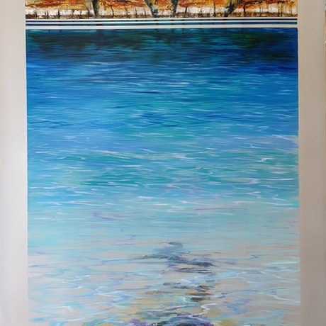 (CreativeWork) Archipelago Love by Suzy French. Oil Paint. Shop online at Bluethumb.