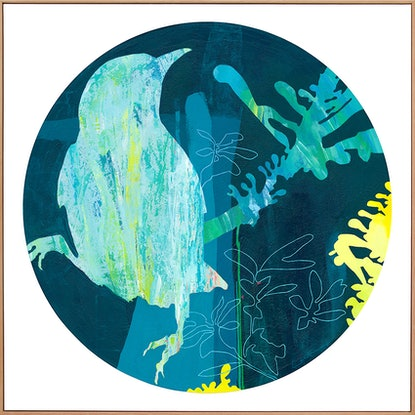 (CreativeWork) Isabella -  large blue green yellow nature abstract  by Stephanie Laine. #<Filter:0x00007fd64e98be68>. Shop online at Bluethumb.