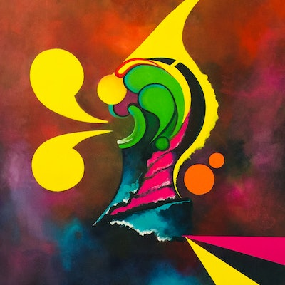 (CreativeWork) Anxiety by Melinda Levy. acrylic-painting. Shop online at Bluethumb.