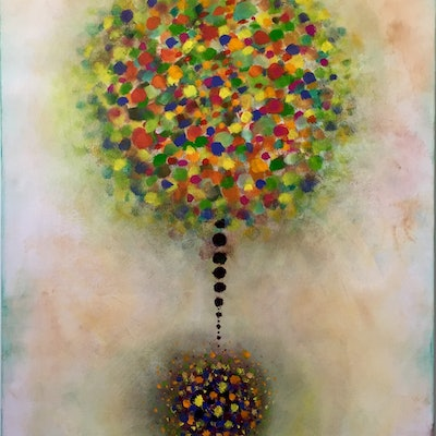 (CreativeWork) Tree of Life by Melinda Levy. acrylic-painting. Shop online at Bluethumb.