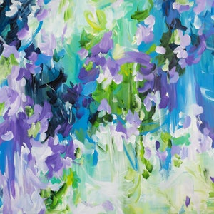 (CreativeWork) Waterfall Gully by Amber Gittins. acrylic-painting. Shop online at Bluethumb.
