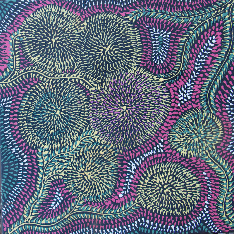 (CreativeWork) Bush Medicine (19-EP55) by Susie Peterson. acrylic-painting. Shop online at Bluethumb.