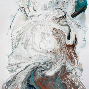 (CreativeWork) Portrait of Disintegration by Brigitte Ackland. acrylic-painting. Shop online at Bluethumb.