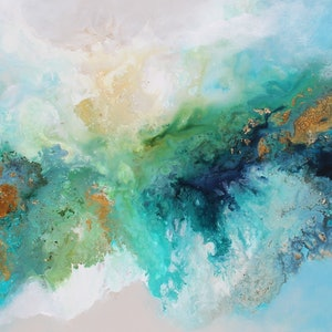 (CreativeWork) Going with the flow  by Sue Dyde. #<Filter:0x0000564ca63df1f0>. Shop online at Bluethumb.