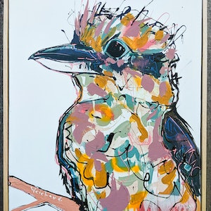 (CreativeWork) Pastel Feathered Morn by Aidan Weichard. mixed-media. Shop online at Bluethumb.