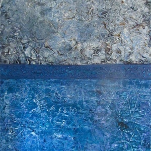 (CreativeWork) Rock Pool reflections    by Jack Isbister. acrylic-painting. Shop online at Bluethumb.