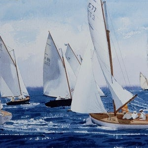 (CreativeWork) Couta Boats racing at Sorrento by Lance Ross. #<Filter:0x00007f73354bddb8>. Shop online at Bluethumb.