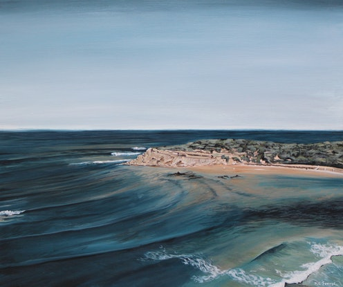 (CreativeWork) The Bluff - Barwon Heads by Nic Everist. Acrylic Paint. Shop online at Bluethumb.