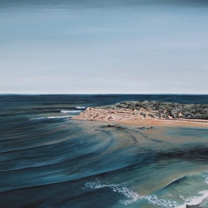 (CreativeWork) The Bluff - Barwon Heads by Nic Everist. acrylic-painting. Shop online at Bluethumb.
