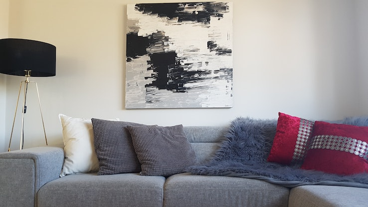 (CreativeWork) Beautiful smudges  by Priya Carvalho. Acrylic Paint. Shop online at Bluethumb.