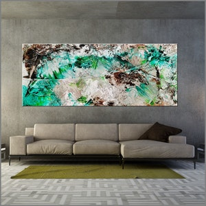 (CreativeWork) Palm Springs Bling 240cm x 100cm Green Cream Textured Ink Abstract Gloss Finish FRANKO by _Franko _. #<Filter:0x00007fcfe68b9fa8>. Shop online at Bluethumb.
