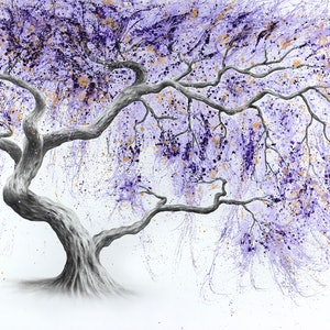 (CreativeWork) Purple Prosperity Tree by Ashvin Harrison. #<Filter:0x00005593466f3928>. Shop online at Bluethumb.