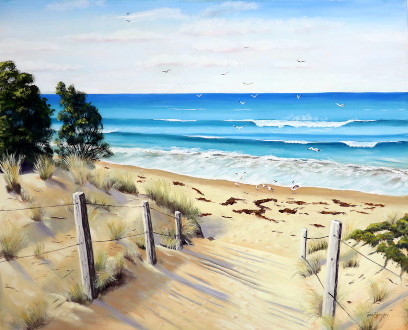 (CreativeWork) To the Beach by Carol Stewart. #<Filter:0x00007fc1e86e25b0>. Shop online at Bluethumb.