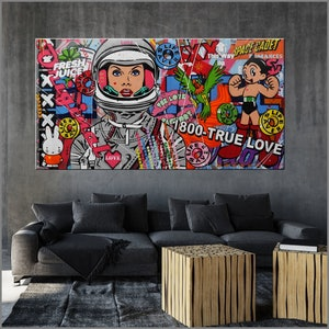 (CreativeWork) Cadet: The Romance Continues (HOLD FOR JOSH) 190cm x 100cm Space Cadet Urban Pop Art Textured Acrylic Gloss Finish FRANKO by _Franko _. #<Filter:0x000055b1a7993550>. Shop online at Bluethumb.